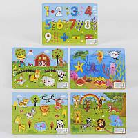 Деревянная игра Рамка-вкладыш С 35962 (150) 5 видов