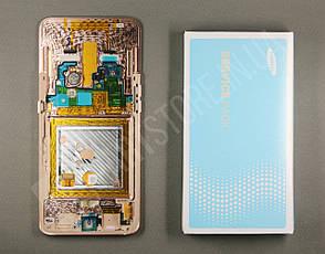 Дисплей Samsung А805 Gold А80 2019 (GH82-20348C) сервисный оригинал в сборе с рамкой, фото 2