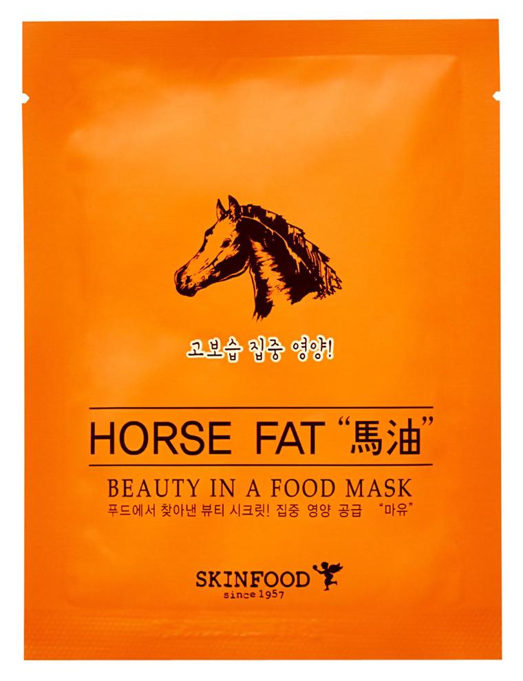 Питательная и восстанавливающая тканевая маска для лица Skinfood Beauty in a Food Mask Sheet Лошадиный жир