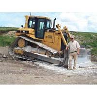 Разработка грунта на косогорах бульдозером Caterpillar D6R 27т