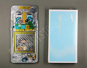 Дисплей Samsung А805 Silver А80 2019 (GH82-20348B) сервисный оригинал в сборе с рамкой, фото 2