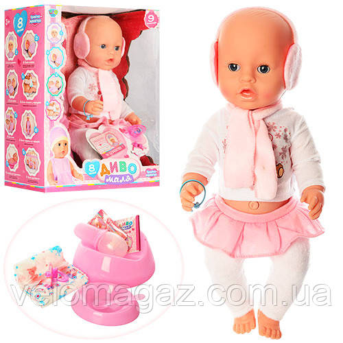 Кукла-пупс ДИВО YL1899Z-S-UA , интерактивная,42 см, 9 функций, пьет, писяет