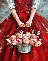 """Картина по номерам. Brushme """"Цветы в корзине"""""""