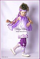 """Дитячий карнавальний костюм """"Фіалка-біла"""". ПРОКАТ по Україні, фото 1"""