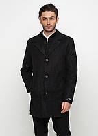 Мужское демисезонное пальто Man's Wear (50) графитовое P-157