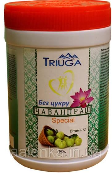 Диетическая добавка Чаванпраш БЕЗ САХАРА, Surya Herbal- Триюга, 500мл