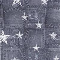 Трикотажная ткань кулир хлопковый с дизайном