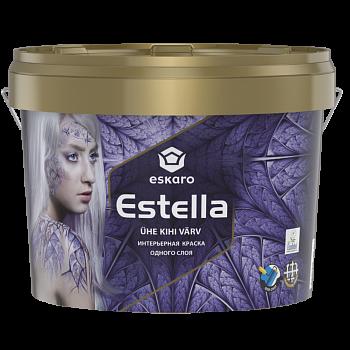 Интерьерная краска одного слоя ESKARO Estella, 9л