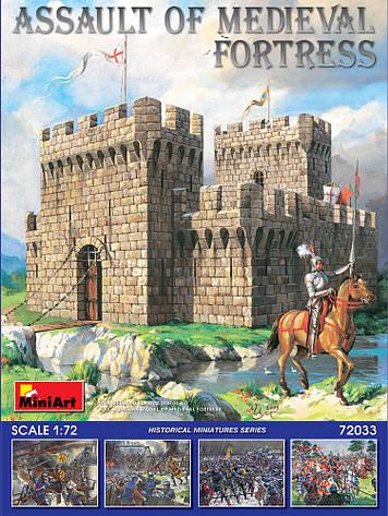Набір збірних моделей. Штурм середньовічної фортеці. 1/72 MINIART 72033, фото 2