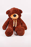 Плюшевий ведмедик Нестор 80 см шоколадний