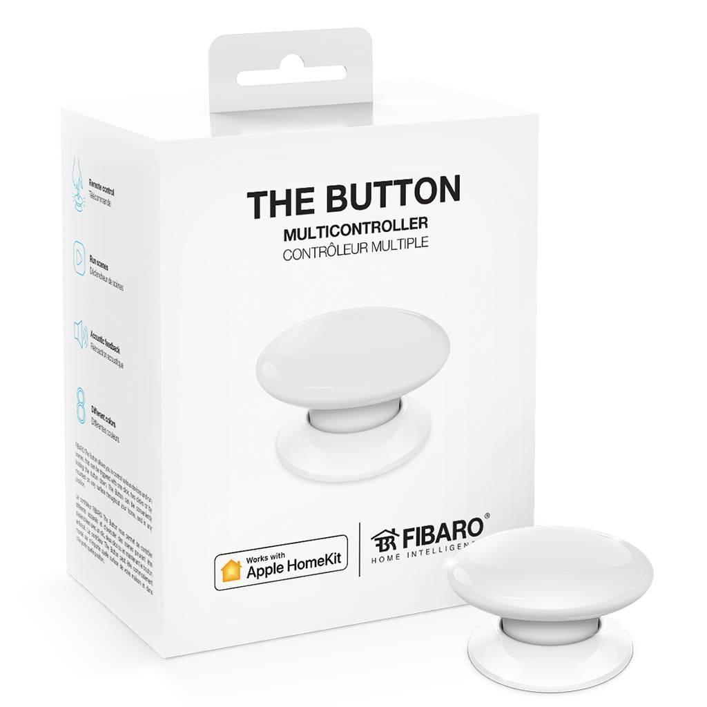 Кнопка управления FIBARO The Button для Apple HomeKit, white (белый) - FGBHPB-101-1