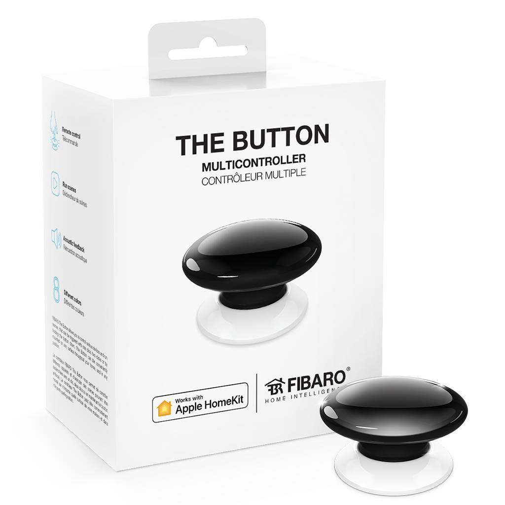 Кнопка управления FIBARO The Button для Apple HomeKit, black (черный) - FGBHPB-101-2