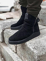 Мужские зимние ботинки черные замша Gross 6256, фото 1
