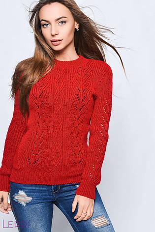 Теплый женский свитер на зиму молочный, фото 2