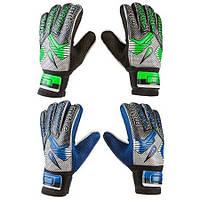 Вратарские перчатки Latex Foam MITRE, синий,зеленый №9