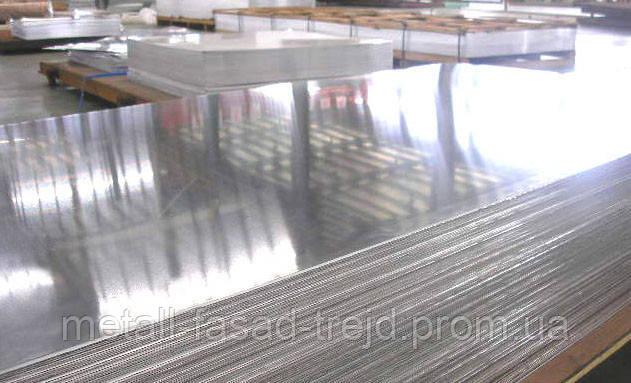 Лист алюминиевый рифлёный квинтет АД0 4,0х1250х2500мм