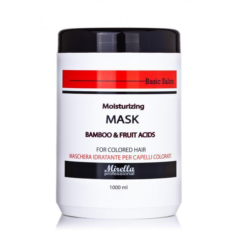 Mirella Professional Увлажняющая маска для окрашенных волос бамбуком и фруктовыми кислотами,1000мл