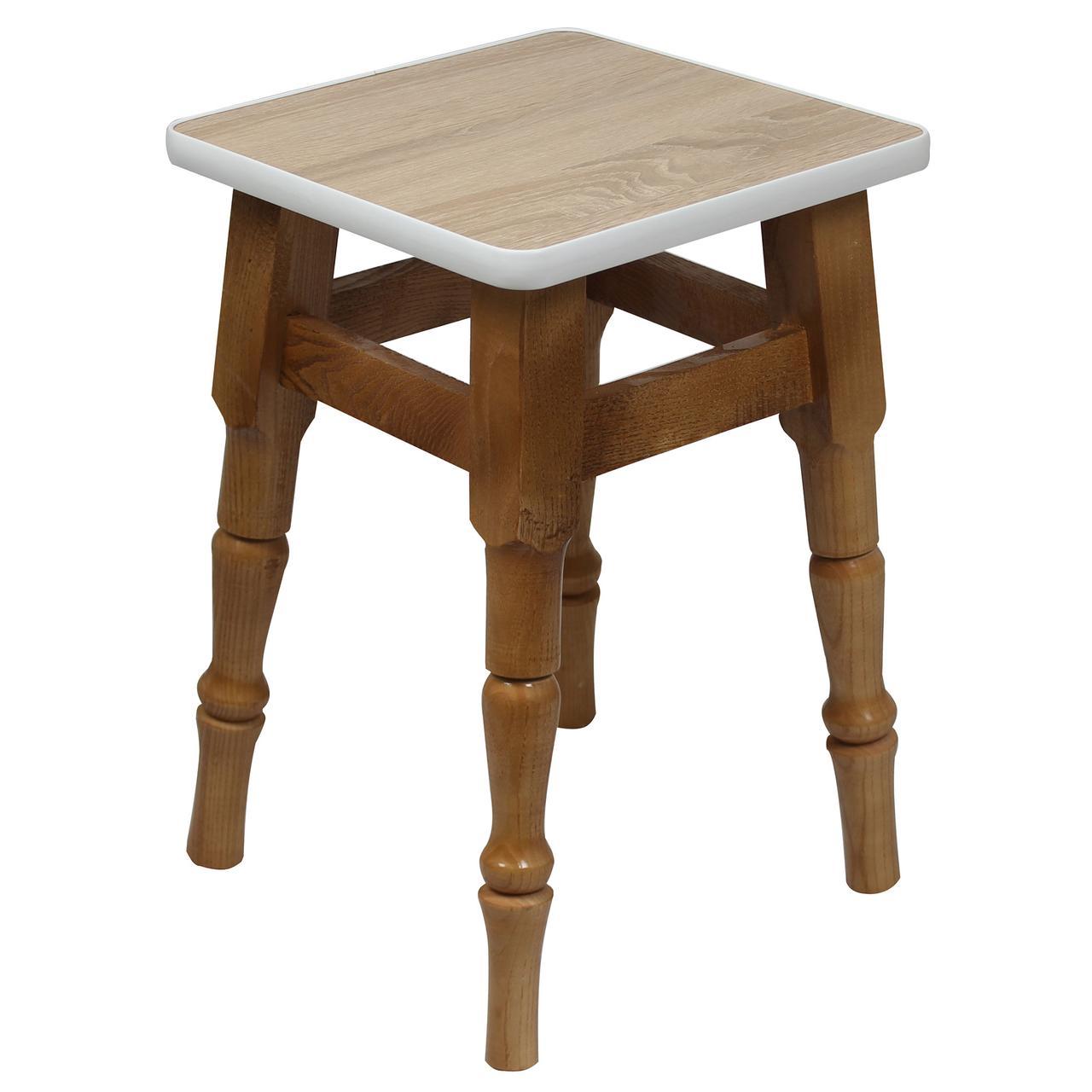 """Кухонный деревянный табурет с фигурными ножками """"Дуб сонома"""""""