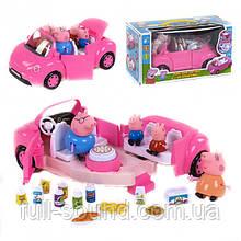 Набор фигурок свинки на машине