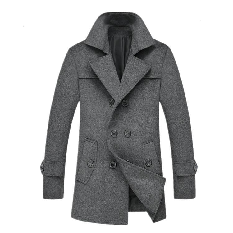 Мужское шерстяное зимнее пальто. Модель 6328