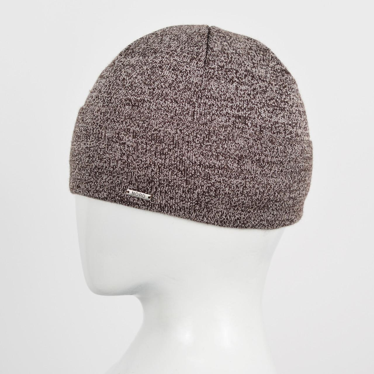 Мужская шапка Nord 172912 Коричн. меланж