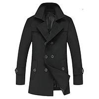 Мужское шерстяное зимнее пальто. Модель 6328, фото 2