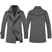 Мужское шерстяное зимнее пальто. Модель 6328, фото 3