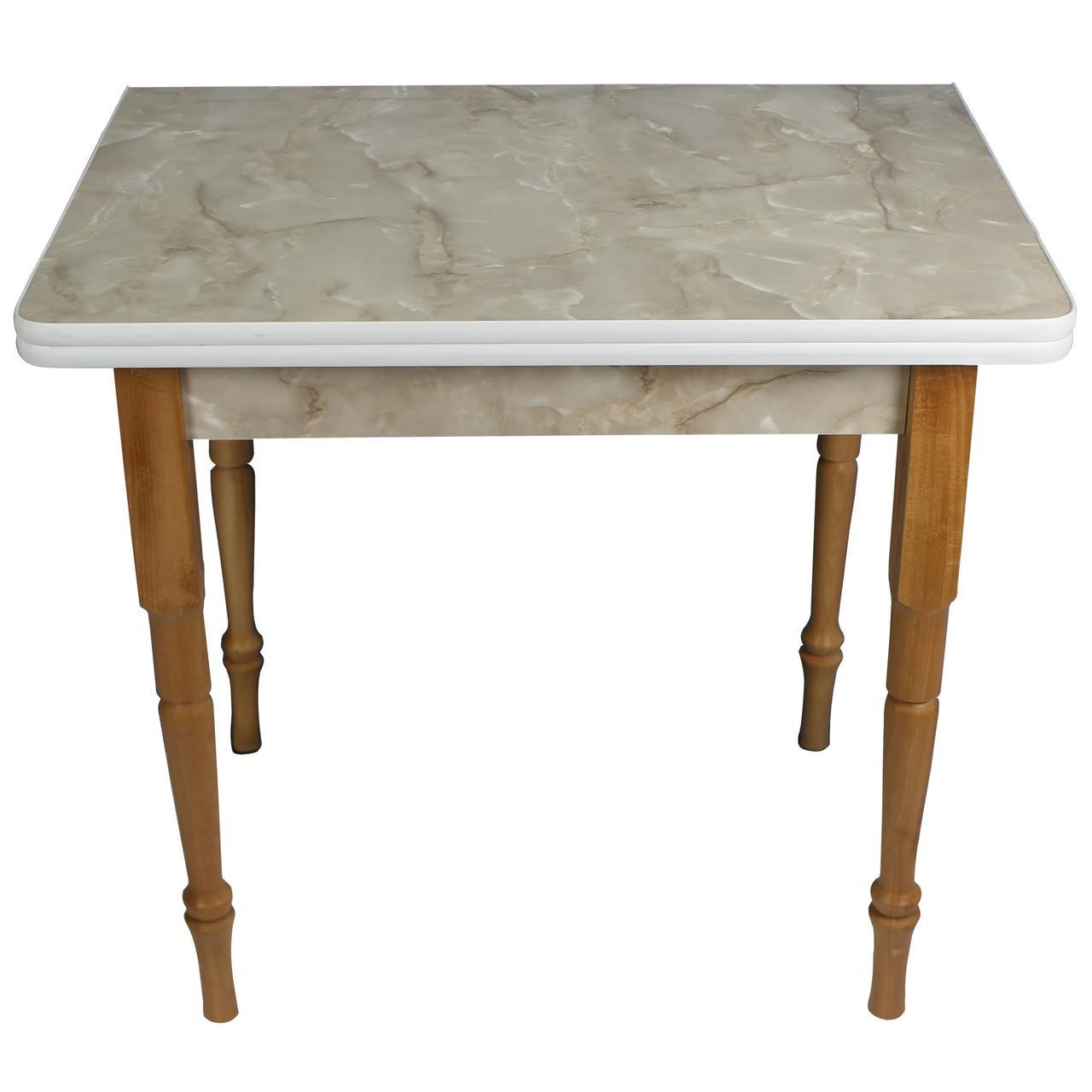 """Раскладной обеденный стол """"Мрамор оникс"""""""