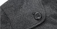 Мужское шерстяное зимнее пальто. Модель 6328, фото 5