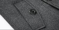 Мужское шерстяное зимнее пальто. Модель 6328, фото 6