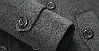 Мужское шерстяное зимнее пальто. Модель 6328, фото 7