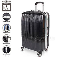 Оригинальный на колесиках пластиковый чемодан,средний, фото 1
