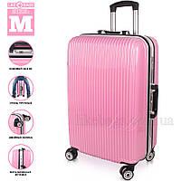 Женский пластиковый чемодан,средний