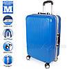 Стильный пластиковый чемодан на колесах Wanger