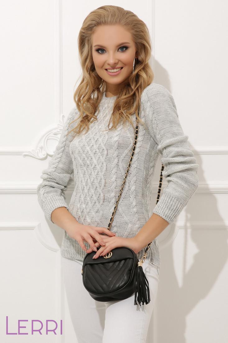 Модний жіночий светр прямого крою сірий