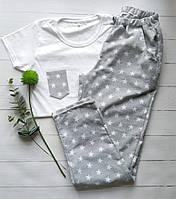 Комплект женский для дома и сна с штанами Звезды