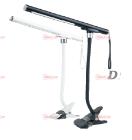 14-10-008. Настольная LED лампа MagicLamp с прищепкой, разборная, переносная, белая