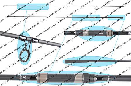 Карповое удилище CZ1626 CZ Fanatic Plus carp rod, фото 2