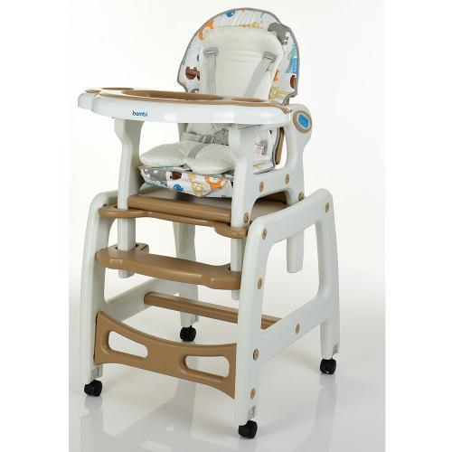 Детский стульчик-трансформер для кормления M 1563 Animal Brown