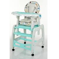 Детский стульчик-трансформер для кормления Bambi M 1563 Animal Mint