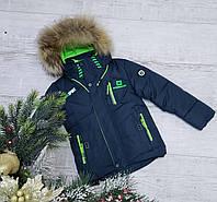 Зимняя куртка 8909а на 100% холлофайбере размеры от 98 см до 122 см рост цвет мор-волна или бутылка, фото 1