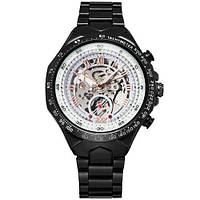 Механические наручные часы Winner Black-White Red Cristal