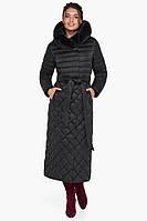 Воздуховик женский зимний черный непромокаемый с опушкой