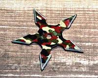 Нож - звезда камуфляж метательный набор 3 шт + чехол, (пятиконечная) иглообразная пластина для метания, фото 1