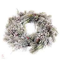 Новогодний венок из шишек Заснеженный лес 8004-023