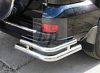 Защита заднего бампера (отбойник-двойные углы) Toyota land cruiser 120 Prado (тойота ленд крузер прадо 02-09)