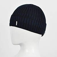 Мужская шапка Nord на флисе 161084 Черн+син
