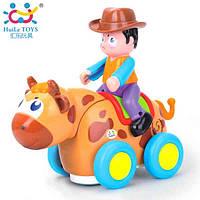 Игрушка Huile toys Ковбой на диком быке