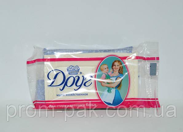 Мыло хозяйственное для стирки детского белья ДРУГ 135г, фото 2