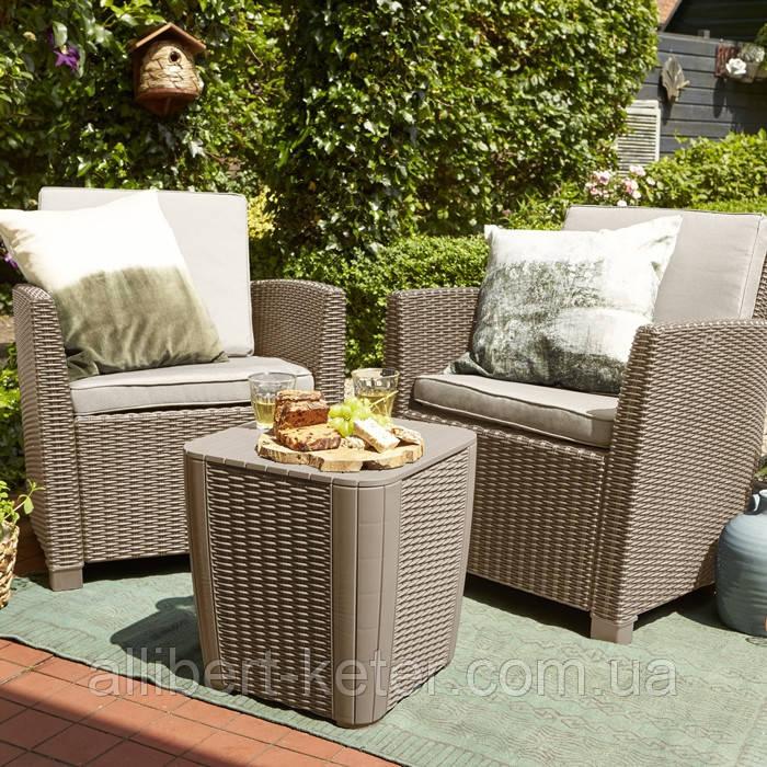 Набор садовой мебели Corona Balcony Set из искусственного ротанга ( Allibert by Keter )